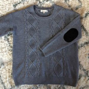 NWOT Cable Knit Elbow Patch Sweater UO